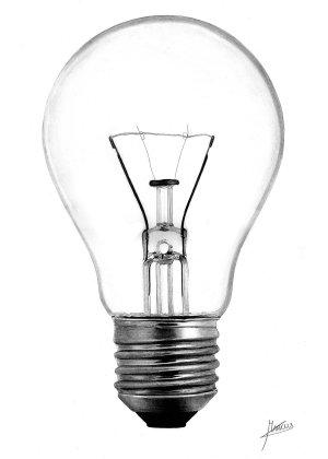 lightbulb bulb drawing clipart drawings edison thomas library clip deviantart pencil