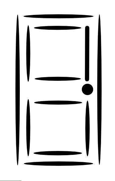 White Door Clip Art Vector Clip Art Online Royalty Free