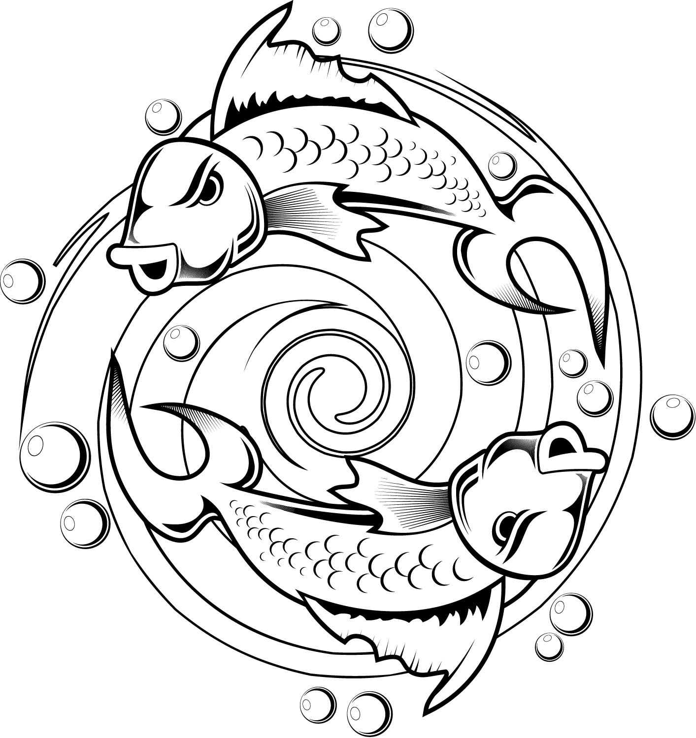 Free Koi Fish Coloring Page Download Free Clip Art Free