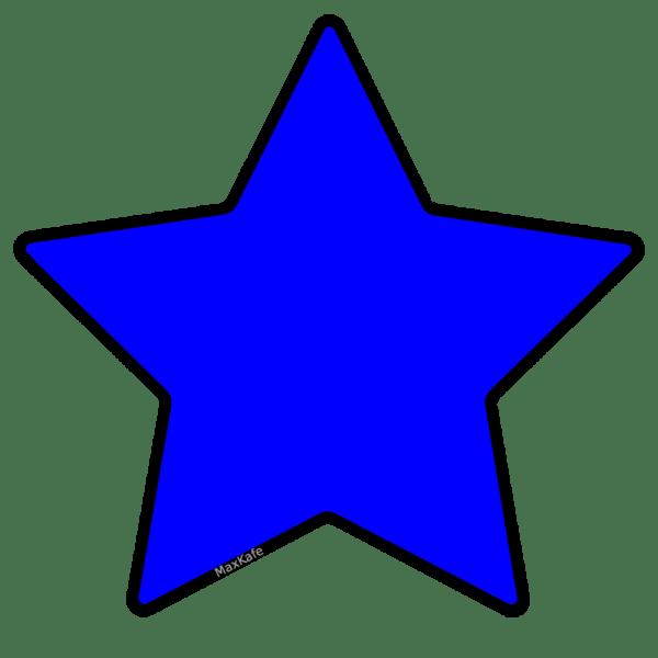free blue star clip