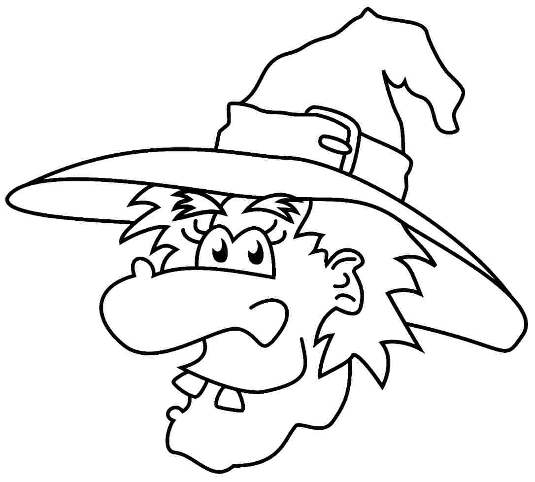 Halloween Witch Coloring Pages Printable Free For Kindergarten
