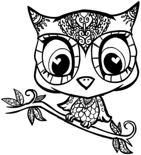 printable owl coloring pages # 29