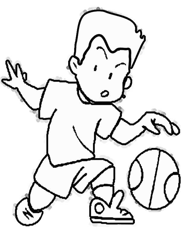 Free Cartoon Girl Playing Basketball, Download Free Clip