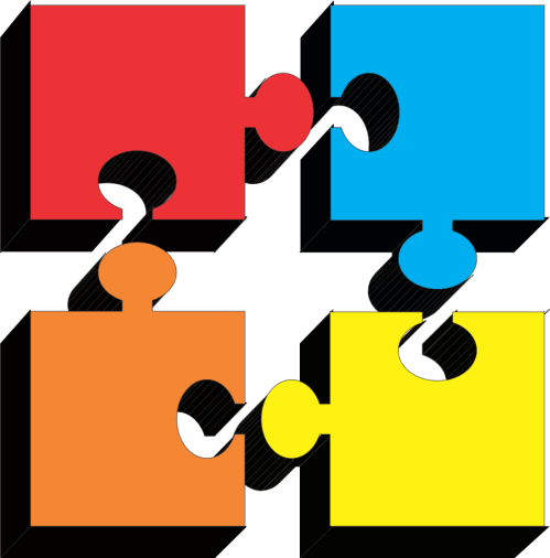 small resolution of puzzle pieces clipart clipart library free clipart images