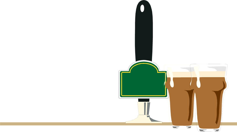 Illustration Of Beers And A Tap At A Bar