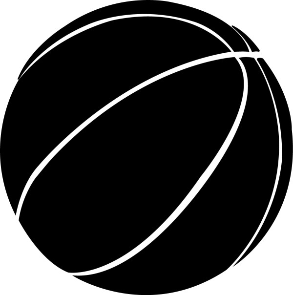 Black and White Basketball Graphic