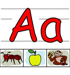 cool letter a clipart library [ 1200 x 1200 Pixel ]