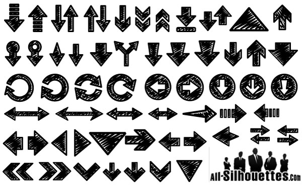350+ Free Graphics: Vector Arrow Symbols and Shapes