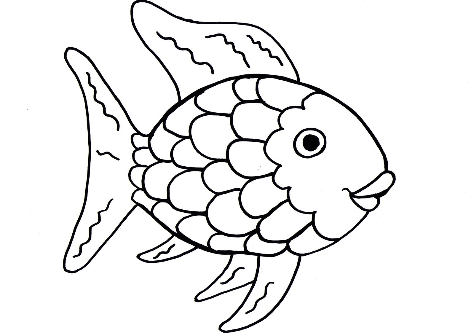 Free Rainbow Fish Outline Download Free Clip Art Free Clip Art On Clipart Library