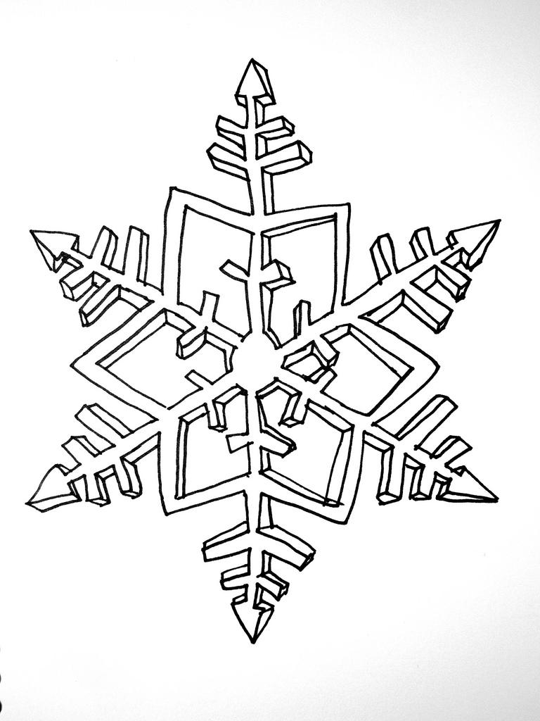 Free Snowflake Drawing, Download Free Clip Art, Free Clip