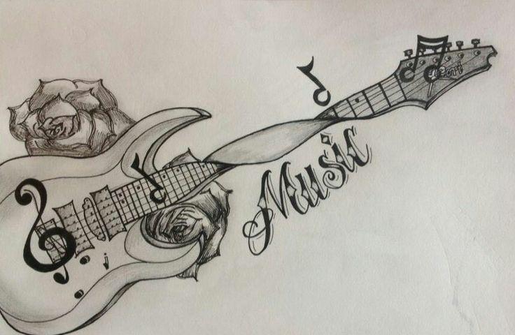 Guitar Tattoo Designs Art