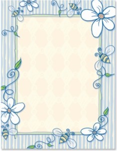 Papers border printable bee paperframes also free paper designs for projects download clip art rh clipart library