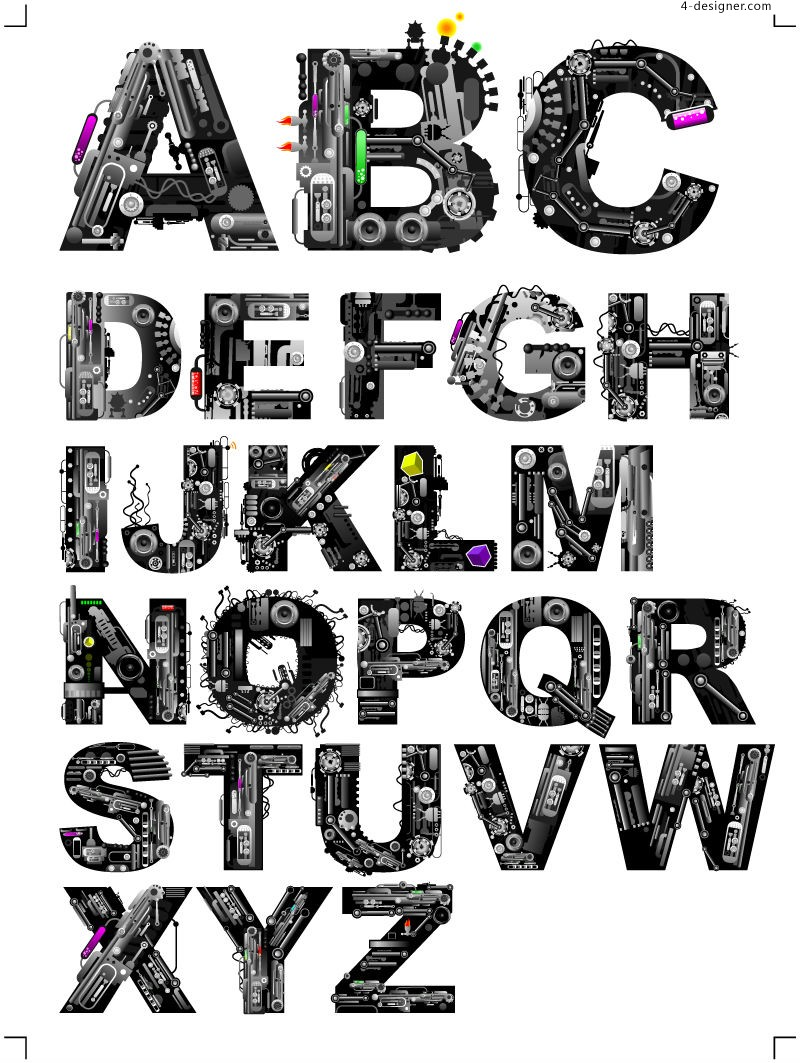 Free Cool Alphabet Letter Designs, Download Free Clip Art