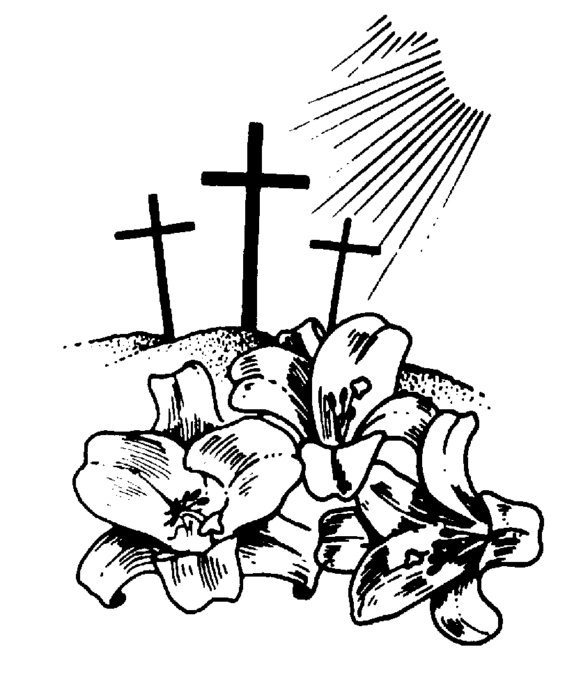 hight resolution of jesus on the cross in black and white clipart library