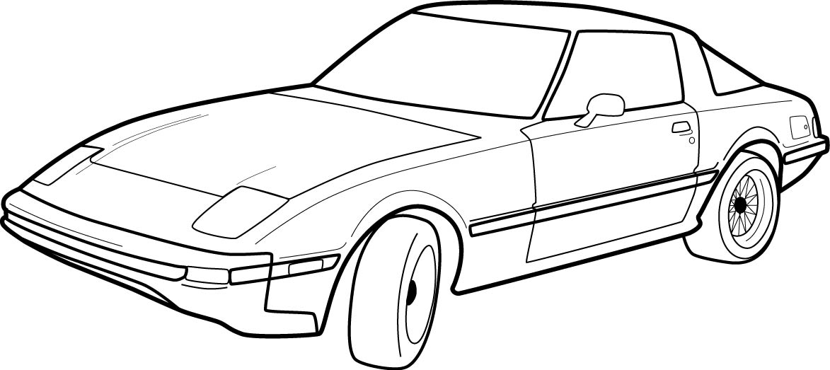 Free Car Outlines, Download Free Clip Art, Free Clip Art