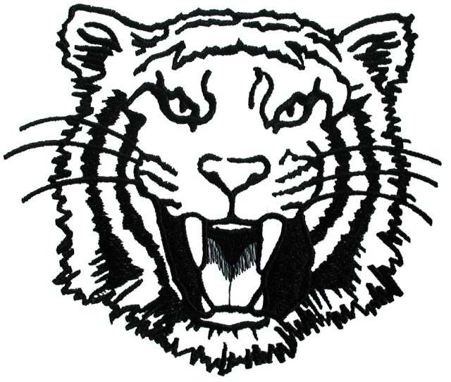 tiger head colouring pages - Clip Art Library