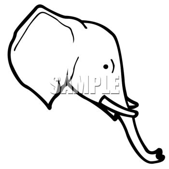 Free Outline Of Elephant Face, Download Free Clip Art