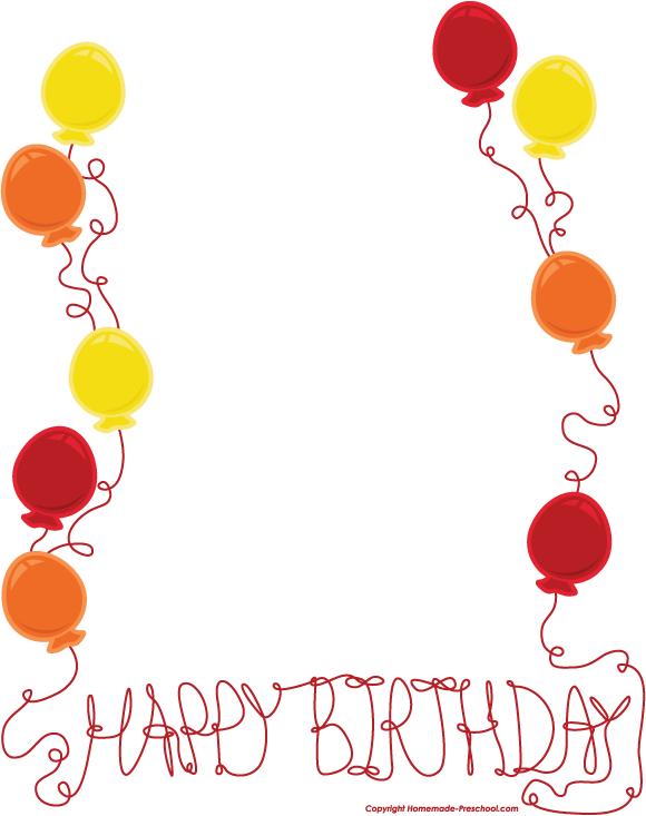 Birthday Border Clipart Free : birthday, border, clipart, Birthday, Borders,, Download, Clipart, Library