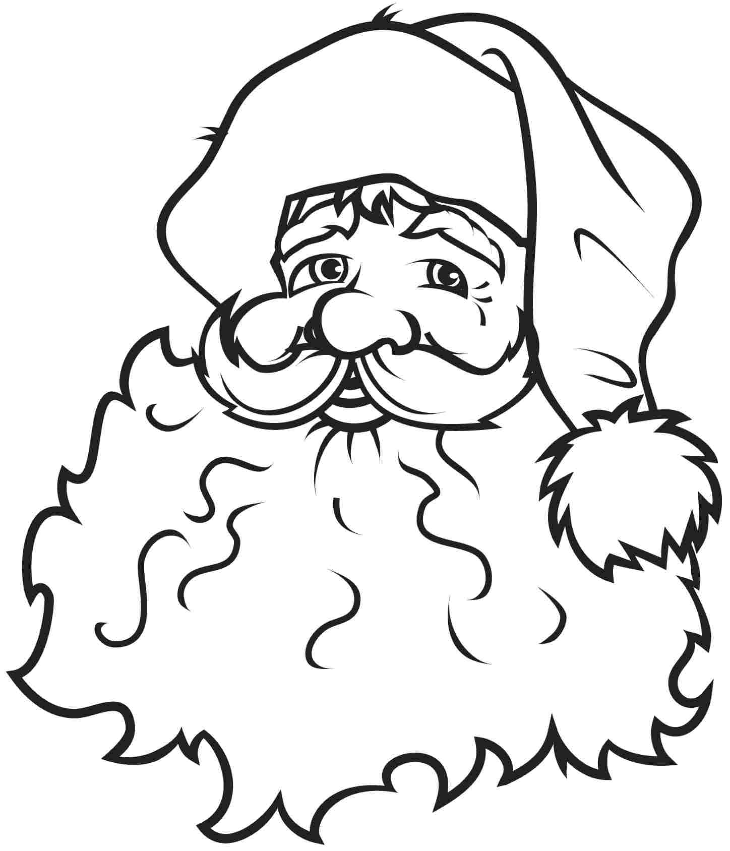 Free Santa Claus Outline, Download Free Clip Art, Free