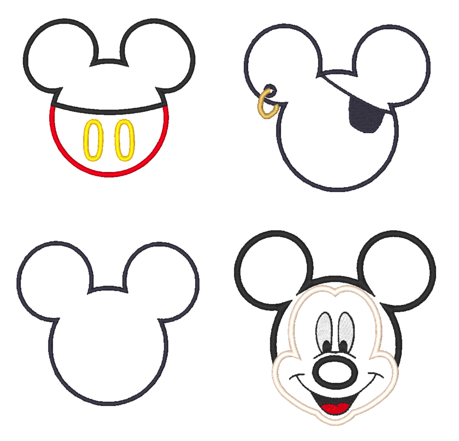 Free Outline Of Mickey Mouse, Download Free Clip Art, Free