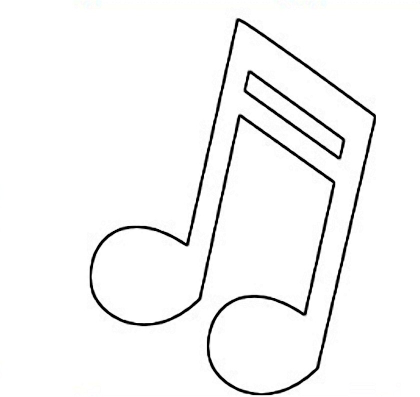 Free Music Note Outline, Download Free Music Note Outline