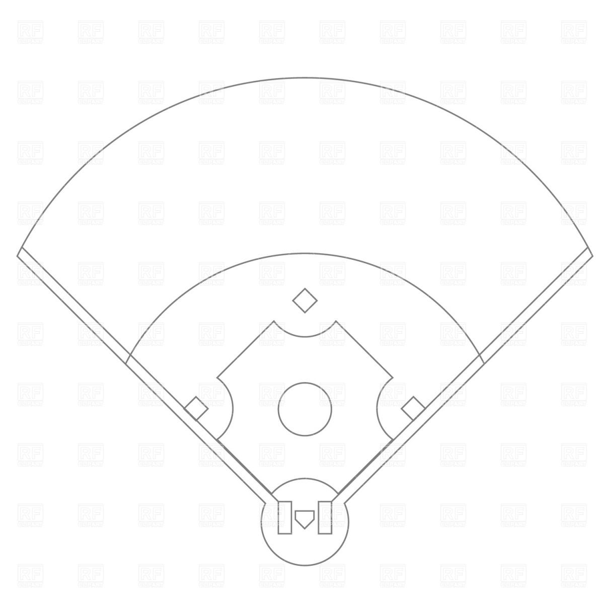 Free Baseball Diamond Outline Download Free Clip Art