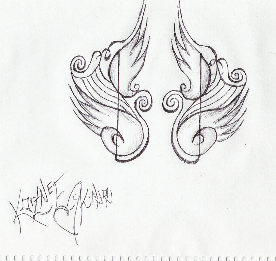 Free Cool Music Tattoo Designs To Draw, Download Free Clip