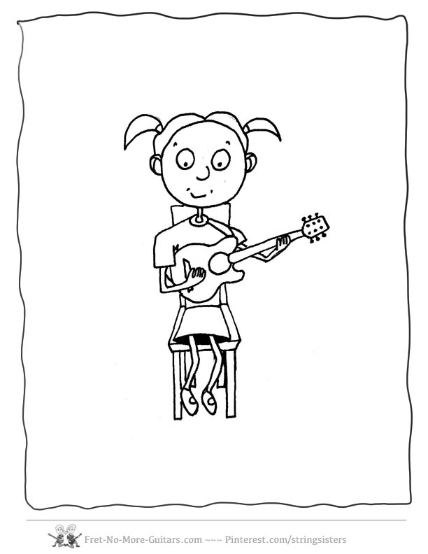 Free Big Guitar Outline Drawing, Download Free Clip Art
