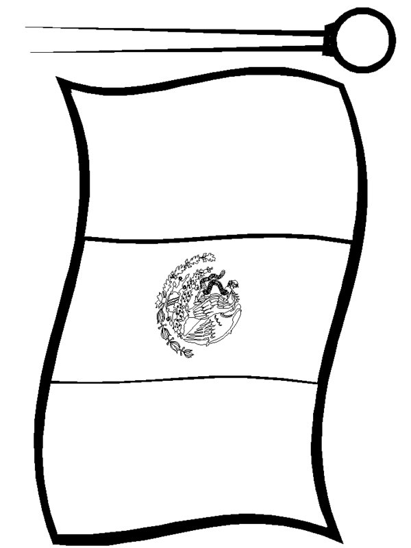 Free Mexican Flag Black And White, Download Free Clip Art
