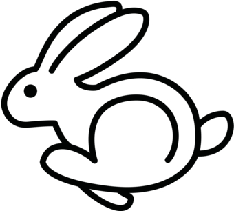 Free Rabbit Outline, Download Free Clip Art, Free Clip Art