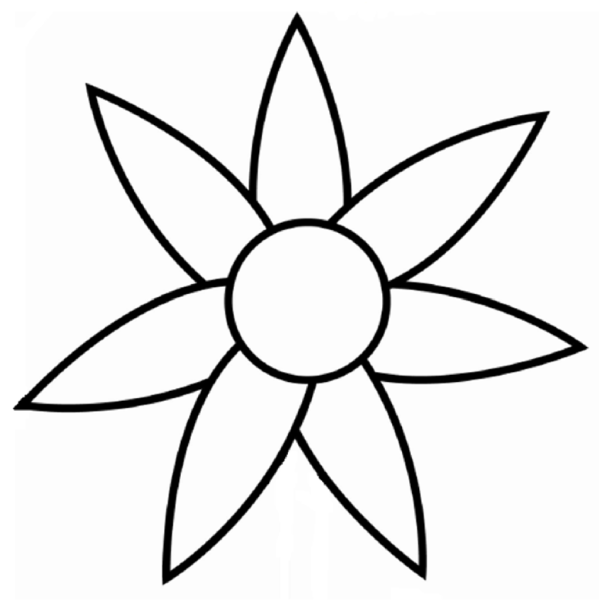 free simple flower outline