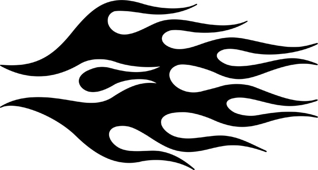 Printable Flame Template Stencils. Printable Flame Outline