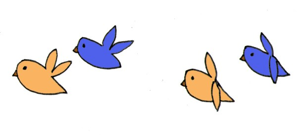 Animation Love Birds Clipart library
