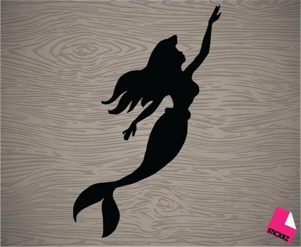 Free Little Mermaid Silhouette Clip Art