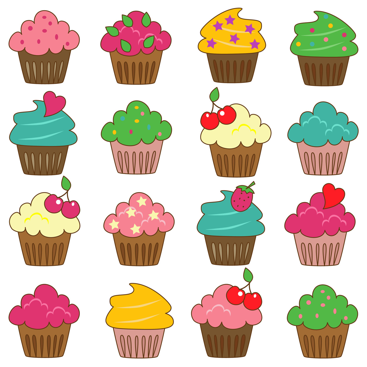 hight resolution of popular items for cupcake clip art on etsy