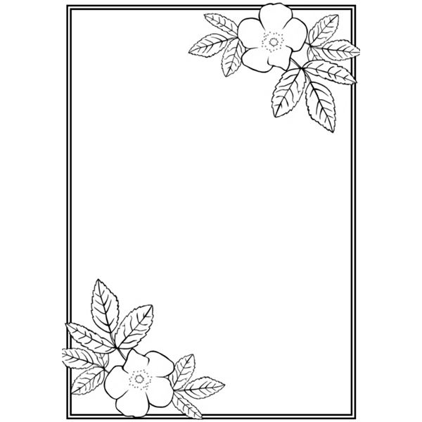 Free Free Border Designs For A4 Size Paper Flowers