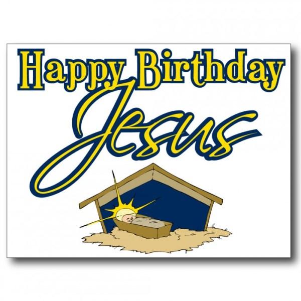 happy birthday jesus white christmas
