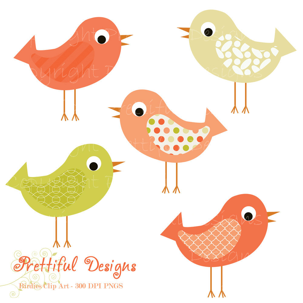 medium resolution of bird clip art pink and green pattern bird by prettifuldesigns