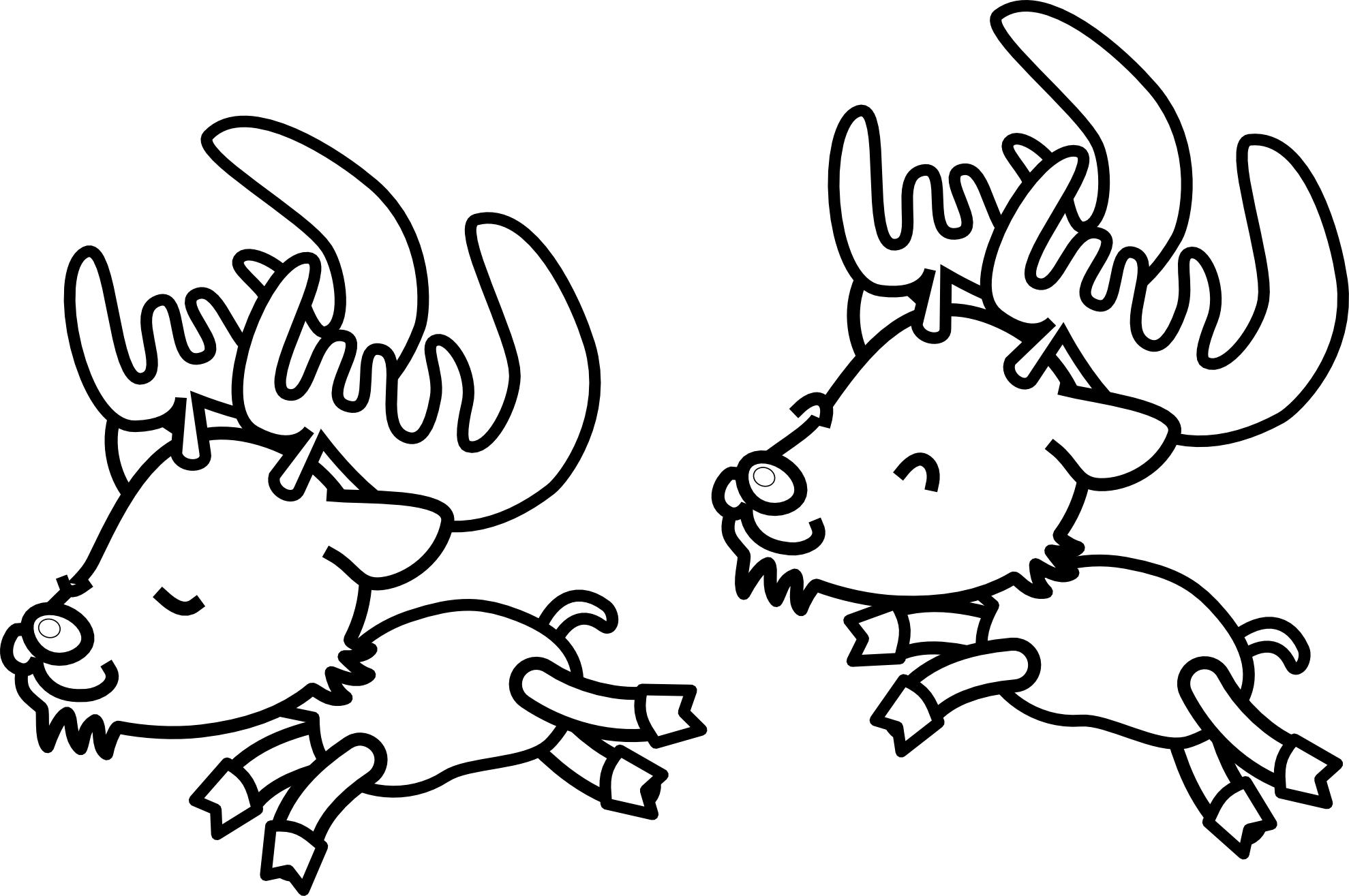 hight resolution of reindeer clipart black and white clipart library free clipart images