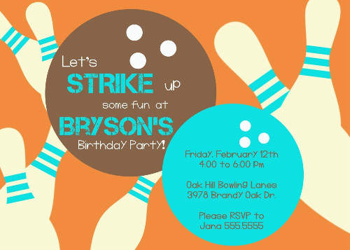 free bowling party invitation