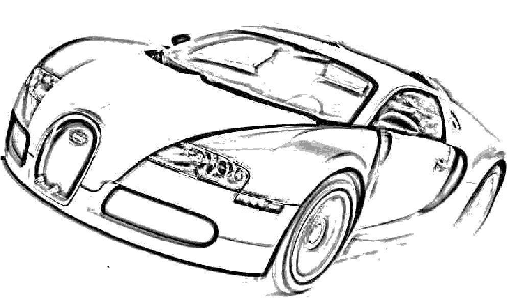 Kleurplaten Autos Bugatti • Kidkleurplaat.nl