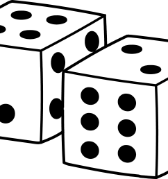 simple playing dice design free clip art [ 7177 x 4637 Pixel ]