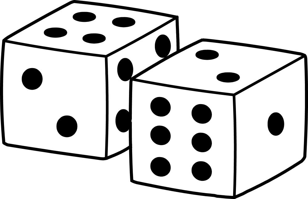 medium resolution of simple playing dice design free clip art