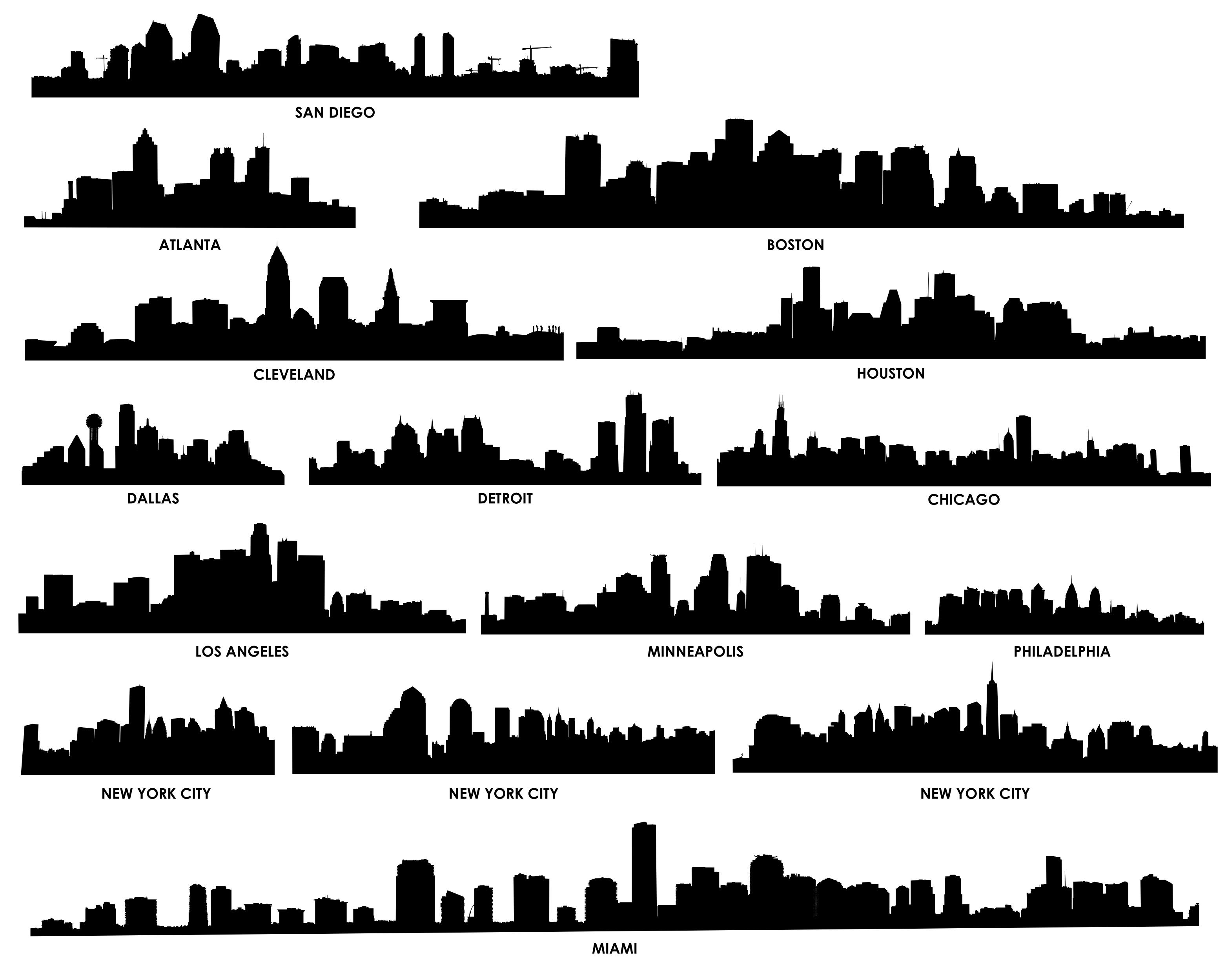 Free Chicago Skyline Vector Download Free Clip Art Free