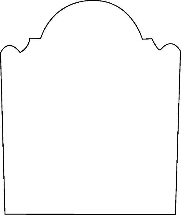 free blank tombstone template