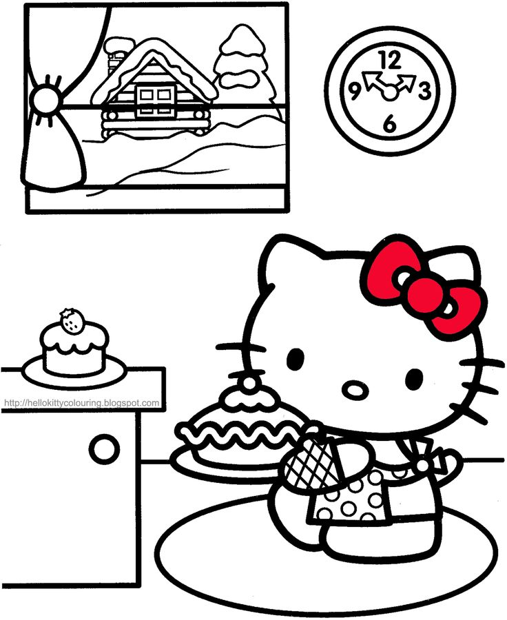 Pin by Dominique Vincenzi Lummus on Hello Kitty Colouring