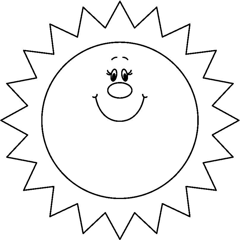 Free Sun Black And White, Download Free Clip Art, Free