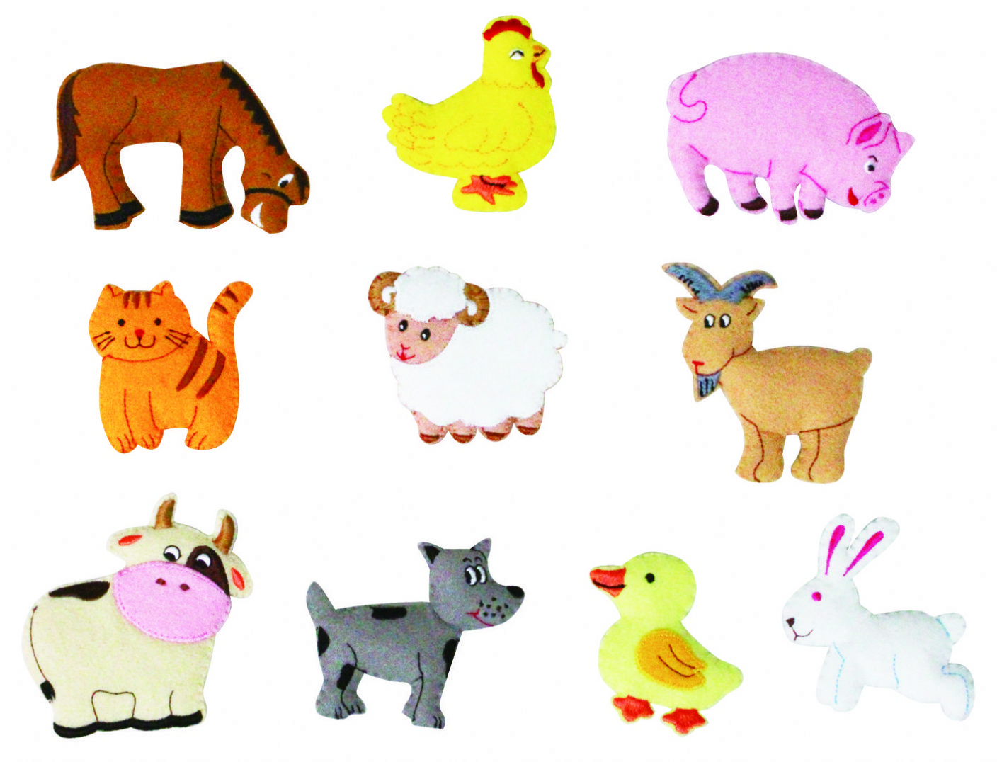 Farm Animal Cutouts Printable