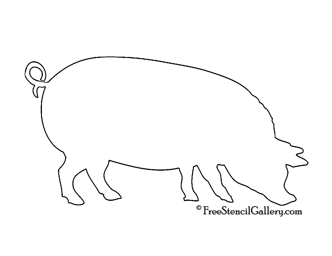 Free Pig Silhouette, Download Free Clip Art, Free Clip Art