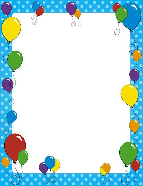 free balloon border